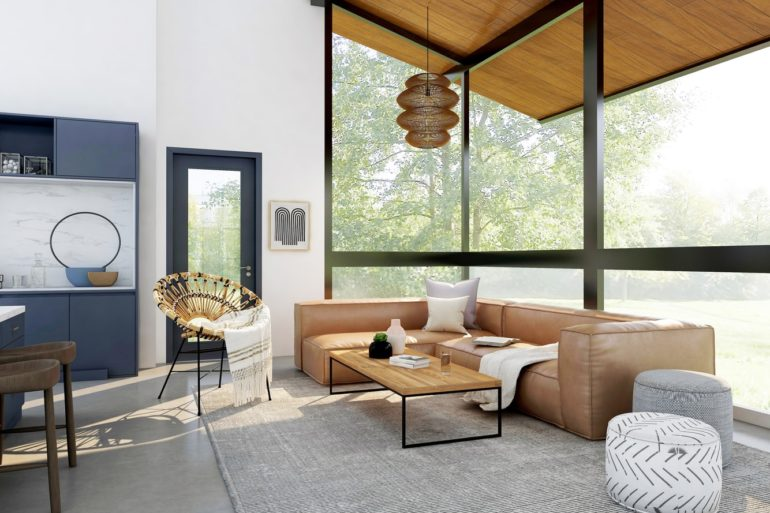 Wohnzimmertisch rechteckig: Modernes Wohnzimmer