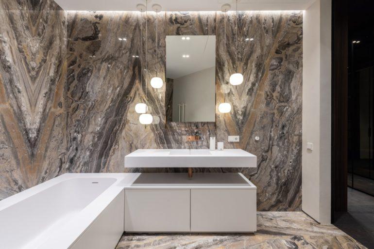 Moderne Badezimmer-Fliesen: Marmor Badezimmer